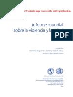 Informe Mundial de La OMS Sobre Violencia