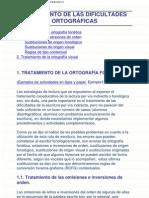 TRATAMIENTO DE LAS DIFICULTADES ORTOGRÁFICAS