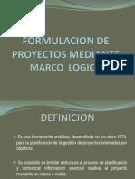 ion de Proyectos Mediante Marco Logico