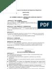Modelo de Estatutos. 2011-1.