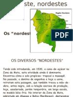 Nordeste, nordestes