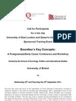 Call for Participants Bourdieu's Key Concepts
