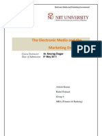 Electronic Media and Marketing Environment