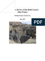 An Executive Review of the Relief Canyon  Mine Project