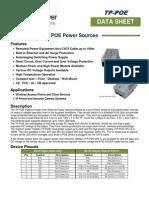 TPS POE Power Source Spec Sheet