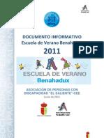 INFORMACIÓN V ESCUELA DE VERANO DE BENAHADUX