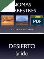 Biomas terrestres y fauna asociada
