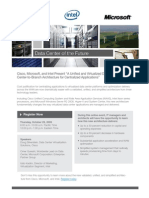 A Unifed and Virtualized DataCenter-to-Branch Architecture for Centralized Applications