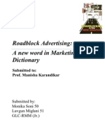 Roadblock Advertising Assignment