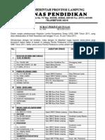 Surat Tugas Panitia Lks 2011