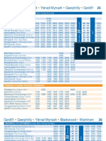 Timetable for Number 26 service Stagecoach South Wales