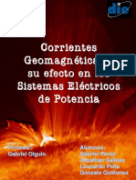 Corrientes Geomagnéticas y su efecto en los Sistemas Eléctricos de Potencia