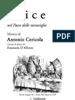 Alice Nel Paese Delle Meraviglie - Musica Di Antonio Cericola