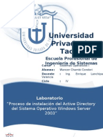Inf Lab Oratorio Win Server 2003 Wancer Ch - Active Directory