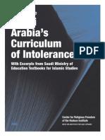 2008 Update - Saudi Arabia's Cirriculum of Intolerance
