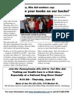 Solidarity Rally at Rite Aid June 23 shareholder meeting