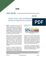 Noti Alerta Locti - Criterio Tecnico Factibilidad de Aceptacion de Facturas en Moneda Nacional