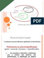 figuras de linguagem  - Plurissignificação