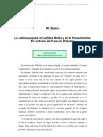 Bajtin M. - La Cultura Popular en La Edad Media Y en El Rena