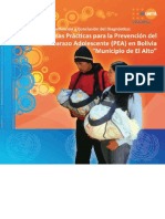 Buenas Practicas Prevencion Embarazo Adolescente El Alto