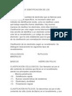 CLASIFICACION E IDENTIFICACIÓN DE LOS ELECTRODOS