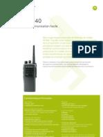 GP340 Datasheet FR
