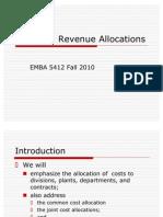 EMBA 5412 Cost and Revenue Allocation