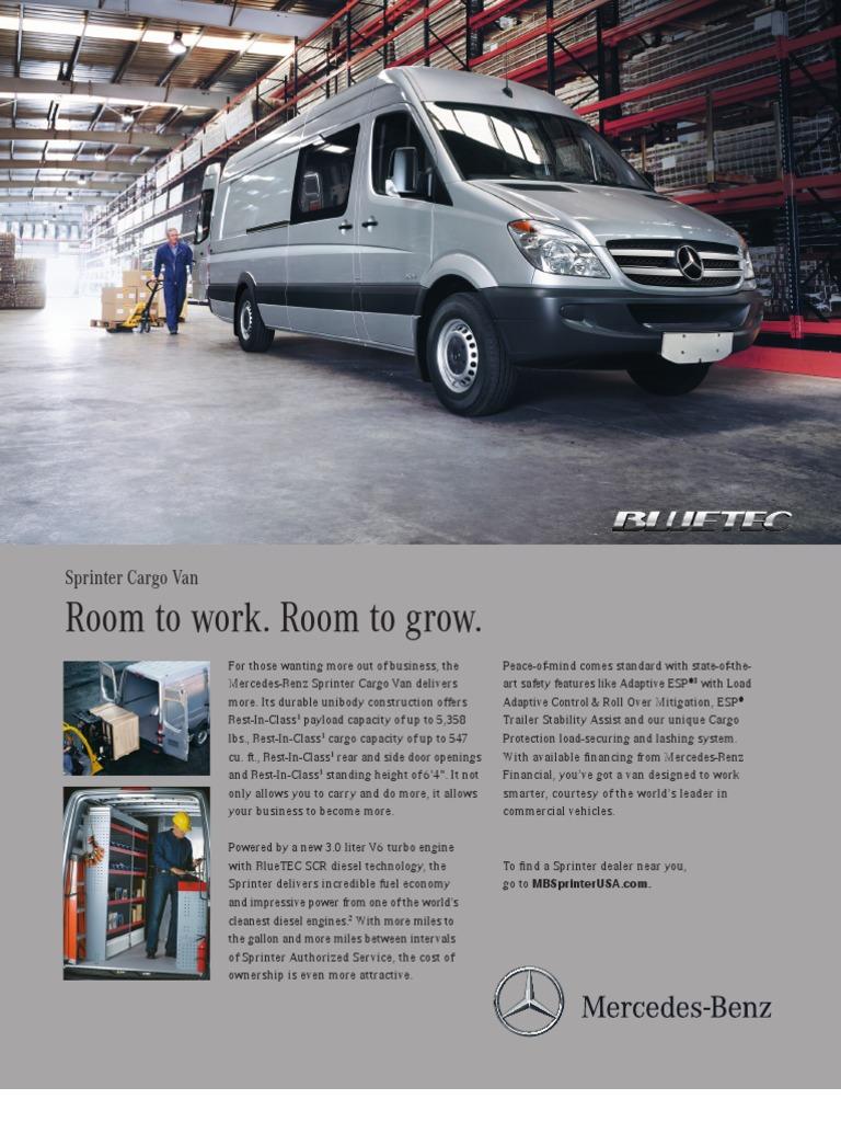 af2185ca6d MB Sprinter Cargo Van Data Sheet