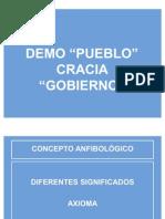 Democracia segun Dahl, Schumpeter, Macpherson y O'Donnell