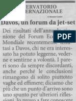 Davos, Un Forum Da Jet-set