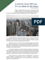 Crescimento de 48% na venda de imóveis em São Paulo. (abril/2011)