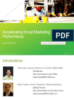 Accelerating Email Marketing Performance - Accelerate! Virtual Workshop -061511