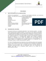 Programa Seminario Relaciones Publico Privadas
