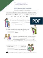 Posses Ives Adjectives Worksheet