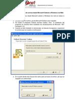 Manual de Migracion de Outlook a Windows Live Mail