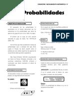 IV Bim - 5to. Año - Raz. Mat. - Guía 4 - PROBABILIDADES