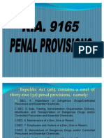 Ra 9165 Penal Provisions