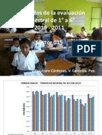 evaluación semestral 2011