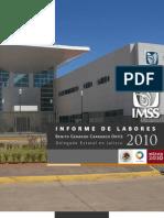 Informe del Delegado del IMSS Jalisco 2010