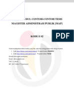 Daftar Judul Contoh-contoh Tesis Magister Administrasi Publik [Map] - Kode e 02