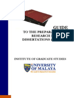 UM Thesis Guideline
