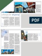 Reportagem ´A Floripa de Zé Perry`, de autoria da Milu Leite, na Revista da Folha (fotos