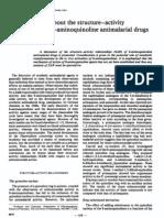 Antimalarial Drug SAR