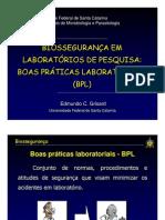 BOAS PRATICAS LABORATORIAIS - UFSC
