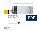 MDM100 Master Data Management