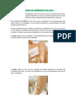 Proceso de depilación
