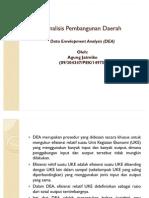 Analisis Pembangunan Daerah-DeA