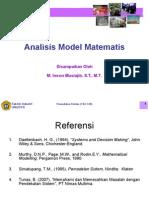 L.7. Analisis Model Matematis