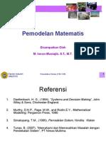 L.6. Pemodelan Matematis
