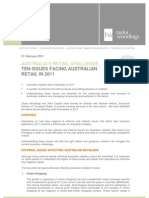 Top Ten Difficulties in Australian Retail for 2011